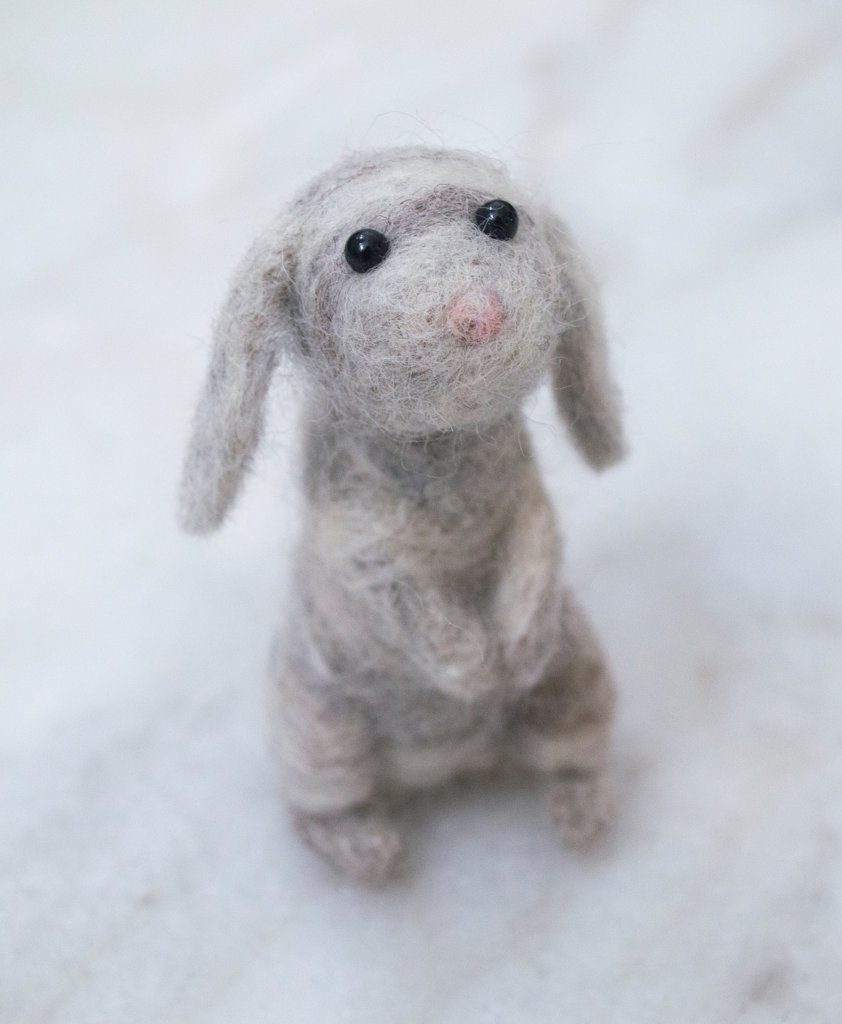 Felted Brown Lop Bunny