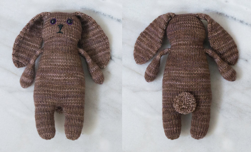 Knit Bunny Toy - Brown Bunny
