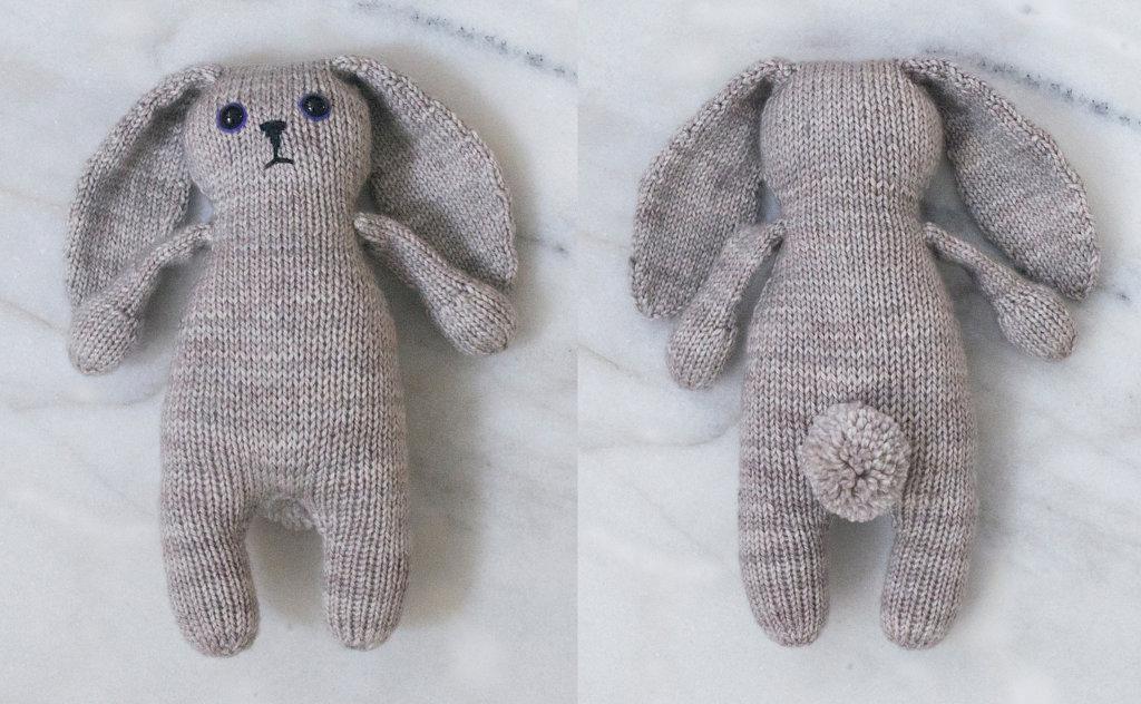 Knit Bunny Toy - Grey Bunny